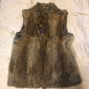 MICHAEL Michael Kors Rabbit Fur Vest